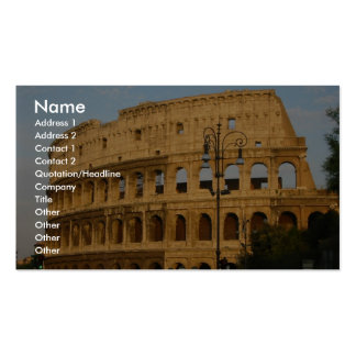 Old Colosseo Of The Rome Pack Of Standard Business Cards