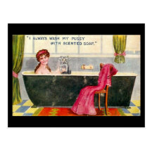 Old Comic Postcard - Scented Soap