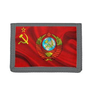 Old Communist USSR Flag Fabric Trifold Wallet