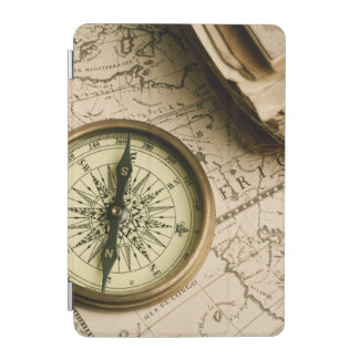 Old Compass Over Ancient Map iPad Mini Cover