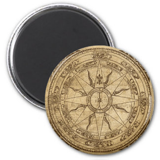 Old Compass Rose 6 Cm Round Magnet