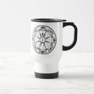 Old Compass Rose (B&W) Stainless Steel Travel Mug
