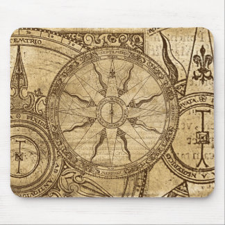 Old Compass Rose Mouse Mat