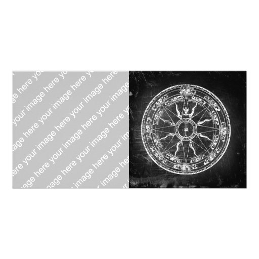 Old Compass Rose Photo Card