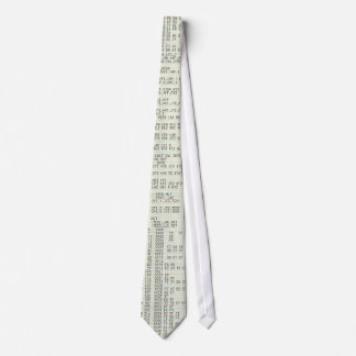 Old Computer Source Code Tie