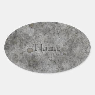 Old Concrete Oval Sticker