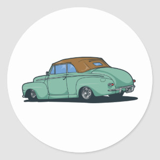 Old Convertible Round Sticker