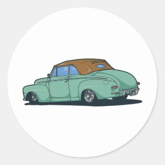 Old Convertible Round Sticker