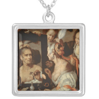 Old Coquette Silver Plated Necklace