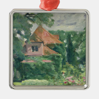 Old Country House, 1902 Silver-Colored Square Decoration
