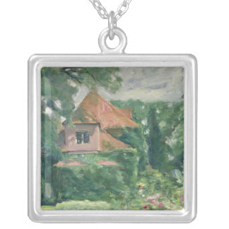 Old Country House, 1902 Silver Plated Necklace