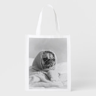 Old Country Pug Reusable Grocery Bag