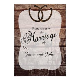 Old Country Wedding 13 Cm X 18 Cm Invitation Card