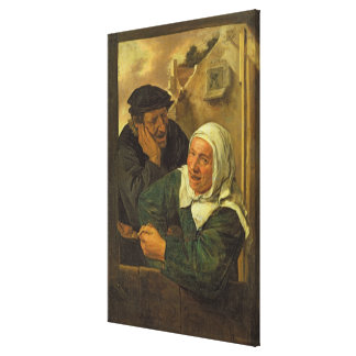 Old Couple Gallery Wrapped Canvas