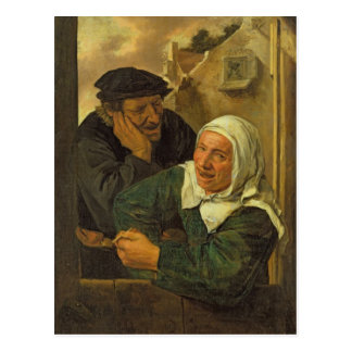Old Couple Post Card