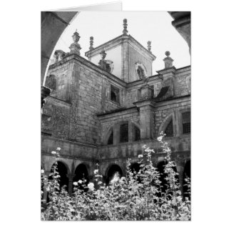Old Courtyard Black & White Photograph Card