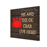 Old Crab Sign-Marriage Canvas Print