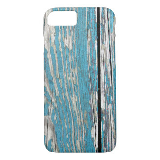 Old Cracked Blue Paint on Wood iPhone 8/7 Case