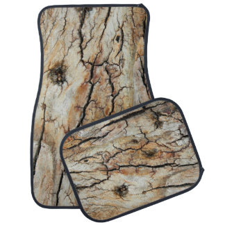 Old cracked wood natural tree bark picture car mat