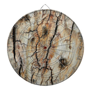 Old cracked wood natural tree bark picture dartboard