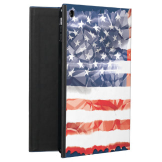 Old Creased American Flag Cover For iPad Air