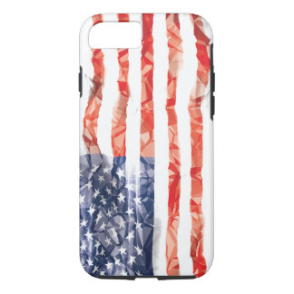 Old Creased American Flag iPhone 7 Case