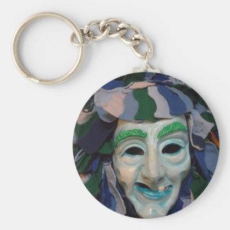 Old Creepy Carnival Mask Keychain