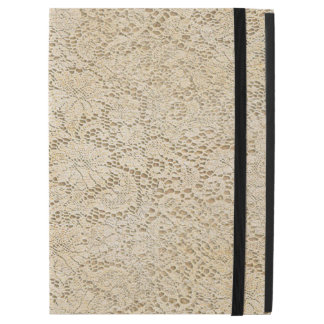 """Old Crochet Lace Floral Pattern + your ideas iPad Pro 12.9"""" Case"""