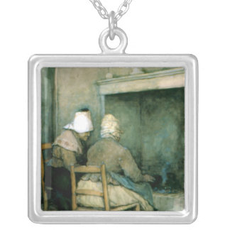 Old Cronies Silver Plated Necklace