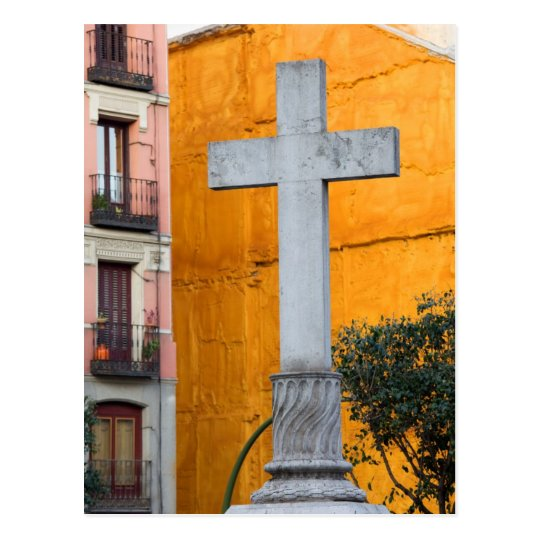 Old Cross in Madrid Postcard
