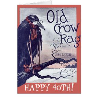 Old Crow Birthday Card
