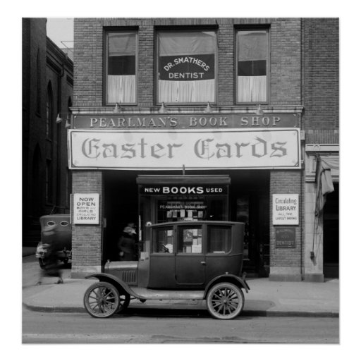 Old D.C. Book Store, 1920s Print