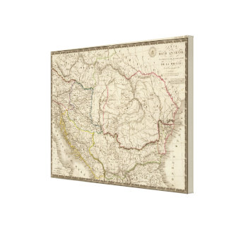 Old Dacia, Pannonia, Illyria, Moesia Canvas Print