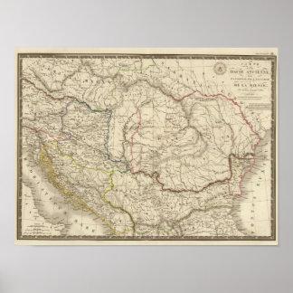 Old Dacia, Pannonia, Illyria, Moesia Poster