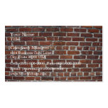 Old Damaged Brick Wall With Periodic White Lines Business Card Templates