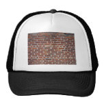 Old Damaged Brick Wall With Periodic White Lines Trucker Hats