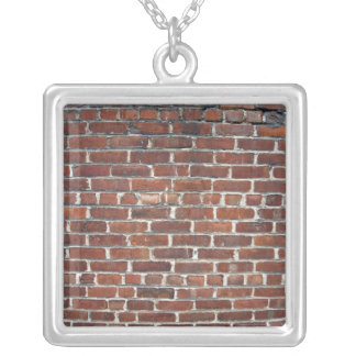Old Damaged Brick Wall With Periodic White Lines Jewelry