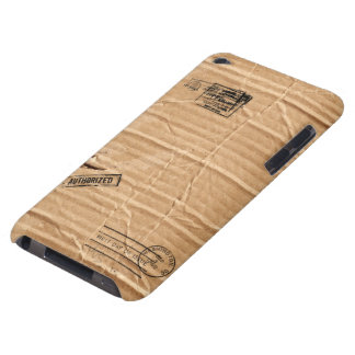 Old Damaged Brown Cardboard With Stamps And Stains iPod Case-Mate Case