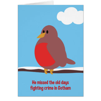 Old Days Robin Christmas Card