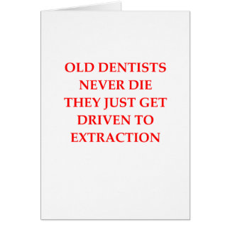 old dentists greeting card