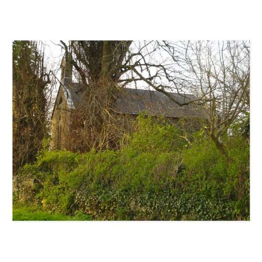 Old Derelict Church in Ireland Postcard