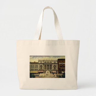 Old Detroit Opera House and Fountain, Detroit, MI Tote Bag