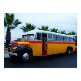 Old Dodge Bus. Postcard