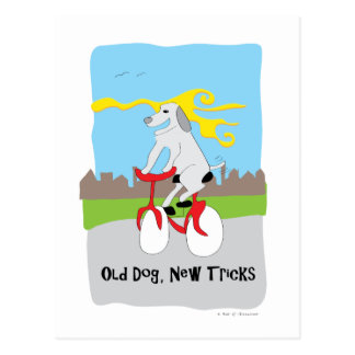 Old Dog New Tricks - Paw of Attraction Postcard