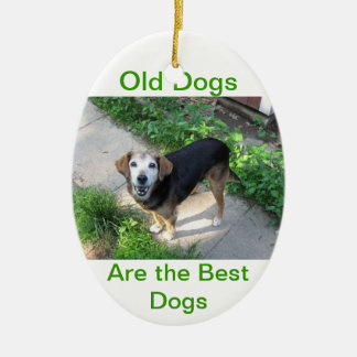 Old Dogs are the Best Dogs Christmas Ornament