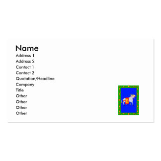 Old Donkey Mule Pack Of Standard Business Cards