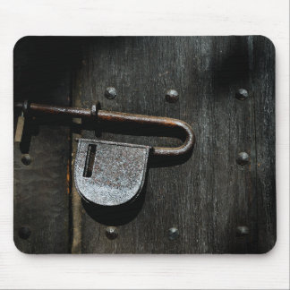 Old Door Latch Mouse Pad
