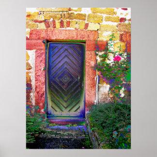old doorstep mediteran, Italia, Poster