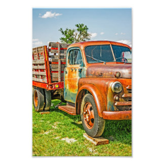 Old Dually - Truck - Rusty - Vintage - Colorful Photographic Print