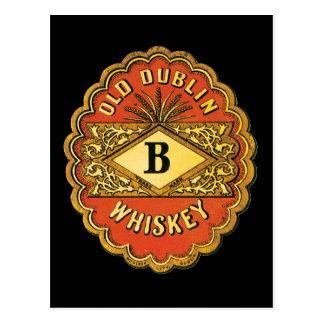 Old Dublin Whiskey Postcard